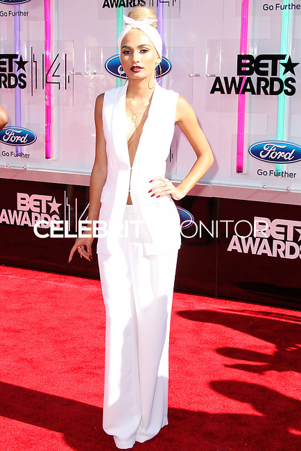 LOS ANGELES, CA, USA - JUNE 29: Singer Pia Mia arrives at the 2014 BET Awards held at Nokia Theatre L.A. Live on June 29, 2014 in Los Angeles, California, United States. (Photo by Xavier Collin/Celebrity Monitor)