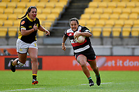 Shontelle Woodman of Counties Manukau in action during the Farah Palmer Cup - Wellington Pride v Counties Heat at Westpac Stadium, Wellington, New Zealand on Sunday 15 September 2019. <br /> Photo by Masanori Udagawa <br /> www.photowellington.photoshelter.com