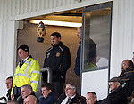 Dumbarton manager Ian Murray banned from the dugout watching on from beneath a toy owl