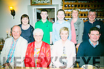 Ann Morrissey from Tralee celebrating her birthday with family and friends on Saturday night at Bella Bia's . Front l-r  Billy Morrissey, Ann Morrissey, Faith Morrissey, Michael Casey, Fiona Morrissey, Cillian Casey, Darragh Keehan, Emma Morrissey and Brendan Keehan.