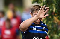 Dave Attwood of Bath Rugby looks on. Bath Rugby pre-season training on August 8, 2018 at Farleigh House in Bath, England. Photo by: Patrick Khachfe / Onside Images