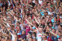 West Ham United fans   during the Barclays Premier League match between West Ham United and Swansea City  played at Boleyn Ground , London on 7th May 2016