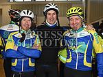 Ciaran O'Brien, Fintan O'Brien and John Hynes who took part in the Duleek Parish School cycle. Photo:Colin Bell/pressphotos.ie