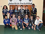 Players from The Ardee Celtic Under 9 White with their medals at the Ardee Celtic annual awards night in Ardee parish centre. Photo:Colin Bell/pressphotos.ie