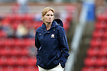 22 September 2016: Notre Dame head coach Theresa Romagnolo. The North Carolina State University Wolfpack hosted the University of Notre Dame Fighting Irish at Dail Soccer Field in Raleigh, North Carolina in a 2016 NCAA Division I Women's Soccer match. Notre Dame won the game 1-0.