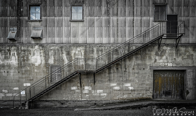 An old building in the historic district of Oamaru on the east coast of the south island of New Zealand