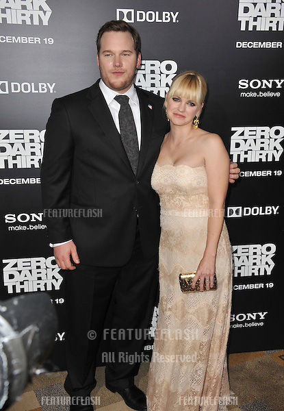 "Chris Pratt & wife Anna Faris at the premiere of his movie ""Zero Dark Thirty"" at the Dolby Theatre, Hollywood..December 10, 2012  Los Angeles, CA.Picture: Paul Smith / Featureflash"