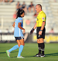 Boyds, MD - Saturday June 25, 2016: Referees, Taylor Lytle during a United States National Women's Soccer League (NWSL) match between the Washington Spirit and Sky Blue FC at Maureen Hendricks Field, Maryland SoccerPlex.
