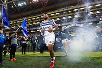 Cooper Vuna and the rest of the Bath Rugby team walk onto the pitch. Heineken Champions Cup match, between Leinster Rugby and Bath Rugby on December 15, 2018 at the Aviva Stadium in Dublin, Republic of Ireland. Photo by: Patrick Khachfe / Onside Images