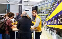 Nederland Amsterdam - 2019. De Nationale Carrierebeurs voor werkzoekenden in de Rai. Stand van de NS.  Foto Berlinda van Dam / Hollandse Hoogte