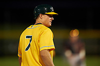 AZL Athletics Gold Nick Hundley (7) during a rehab assignment in an Arizona League game against the AZL Giants Black on July 12, 2019 at Hohokam Stadium in Mesa, Arizona. The AZL Giants Black defeated the AZL Athletics Gold 9-7. (Zachary Lucy/Four Seam Images)