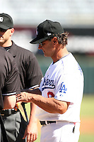 Don Mattingly - Phoenix Desert Dogs - 2010 Arizona Fall League. Mattingly, the new manager of the Los Angeles Dodgers, makes his AFL debut as manager of the Phoenix Desert Dogs in the opening game against the Mesa Solar Sox at Phoenix Municipal Stadium - 10/12/2010.Photo by:  Bill Mitchell/Four Seam Images..