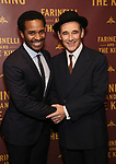 Andre Holland and Mark Rylance attends the Broadway Opening Night performance After Party for 'Farinelli and the King' at The Belasco Theatre on December 17, 2017 in New York City.