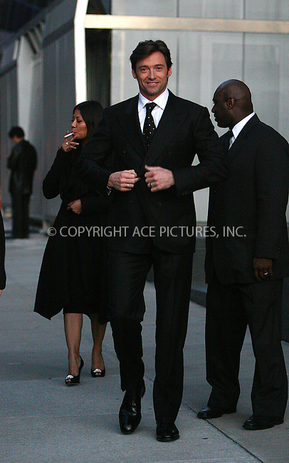 WWW.ACEPIXS.COM . . . . .  ....October 26 2009, New York City....Actor Hugh Jackman leaving his Manhattan apartment on October 26 2009 in New York City....Please byline: NANCY RIVERA- ACE PICTURES.... *** ***..Ace Pictures, Inc:  ..tel: (212) 243 8787 or (646) 769 0430..e-mail: info@acepixs.com..web: http://www.acepixs.com