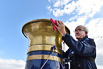 Pictured: Restoration volunteer Martin Marks polishes the solid brass funnel of Pinnace 199.<br /> <br /> An historic 100 year old Royal Navy steam ship has finally been returned to its former glory after a painstaking restoration process.<br /> <br /> The 50ft-long Steam Pinnace 199 is believed to be the last remaining boat of its type in operational service.<br /> <br /> For years, the significance of the boat, which was built in 1911, was lost on various owners and it languished at the side of the Thames for more than 20 years as a static houseboat.<br /> <br /> Her steam engine was even replaced by a petrol engine.<br /> <br /> However, before the vessel disappeared forever beneath a Thames mud bank, she was recognised for the proud little ship she once was and rescued by a group of volunteers, who called themselves Group 199.   SEE OUR COPY FOR DETAILS.<br /> <br /> <br /> © Morten Watkins/Solent News & Photo Agency<br /> UK +44 (0) 2380 458800