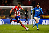 9th January 2018, Wanda Metropolitano, Madrid, Spain; Copa del Rey football, round of 16, second leg, Atletico Madrid versus Lleida; Victor Machin VITOLO (Atletico de Madrid) drives forward on the ball