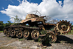 Photo shows a tank used by Imperial Japanese Army soldiers near Asleto airport in Saipan on 22 February 2011. .Photographer: Robert Gilhooly