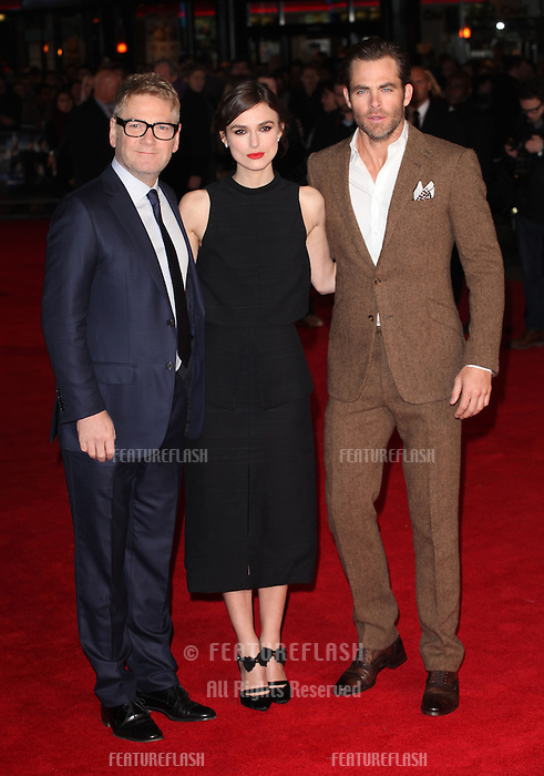 Kenneth Branagh, Chris Pine and Keira Knightley arriving for the UK Premiere of Jack Ryan, at Vue Leicester Square, London. 20/01/2014 Picture by: Alexandra Glen / Featureflash