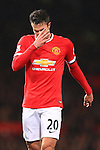 Robin van Persie of Manchester United looks dejected - Manchester United vs. Burnley - Barclay's Premier League - Old Trafford - Manchester - 11/02/2015 Pic Philip Oldham/Sportimage