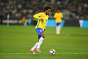 June 9th 2017, Melbourne Cricket Ground, Melbourne, Australia; International Football Friendly; Brazil versus Argentina; Willian Silva of Brazil breaks towards goal