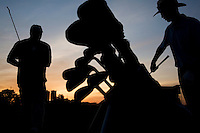 NEW YORK - MAY 25: People play at Randall's Island Golf Center on Monday, May 25, 2009. (photo by Landon Nordeman)