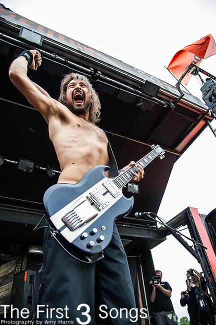 Dango (Niklas Källgren) of Truckfighters performs during the 2014 Rock On The Range festival at Columbus Crew Stadium in Columbus, Ohio.