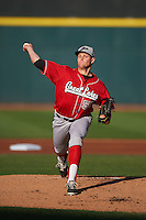 Great Lakes Loons pitcher Trevor Oaks (50) delivers a pitch during a game against the Dayton Dragons on May 21, 2015 at Fifth Third Field in Dayton, Ohio.  Great Lakes defeated Dayton 4-3.  (Mike Janes/Four Seam Images)