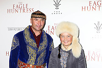 """LOS ANGELES, CA - OCTOBER 18: Nurgaiv Rys, Aisholpan Nurgaiv at the """"The Eagle Huntress"""" Premiere at the Pacific Theaters at the Grove, Los Angeles, California on October 18, 2016.  Credit: David Edwards/MediaPunch"""