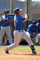 New York Mets infielder Eric Campbell #10 during a minor league spring training intrasquad game at the Port St. Lucie Training Complex on March 27, 2012 in Port St. Lucie, Florida.  (Mike Janes/Four Seam Images)