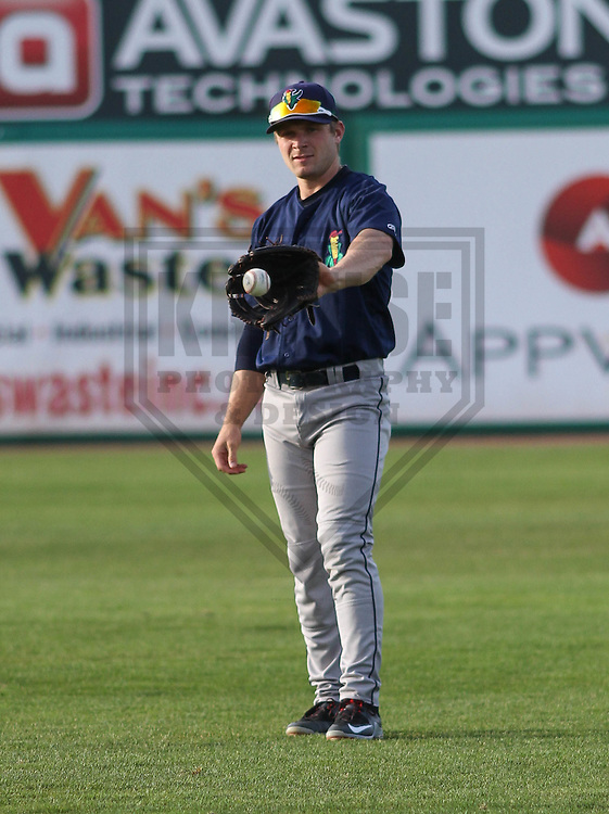 Cedar Rapids Kernels outfielder Max Murphy (13) during a game against the Wisconsin Timber Rattlers on May 4th, 2015 at Fox Cities Stadium in Appleton, Wisconsin.  Cedar Rapids defeated Wisconsin 9-3.  (Brad Krause/Krause Sports Photography)