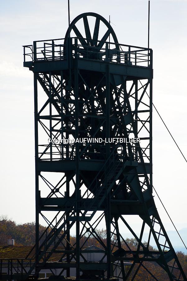 Asse 2  Foerderturm des Bergwerks und Atomlagerstaette: DEUTSCHLAND, NIEDERSACHSEN, REMLINGEN, (GERMANY), 02.11.2014: Asse 2  Foerderturm des Bergwerks und Atomlagerstaette