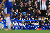 2nd December 2017, Stamford Bridge, London, England; EPL Premier League football, Chelsea versus Newcastle United; David Luiz of Chelsea sits in the stand