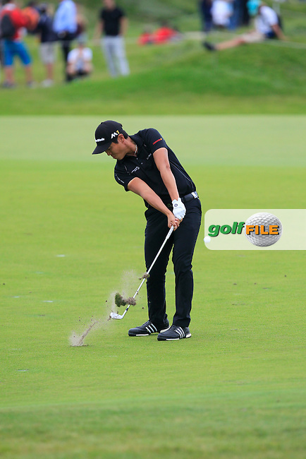 Daniel Im (USA) on the 5th fairway during Round 4 of the 2016 KLM Open at the Dutch Golf Club at Spijk in The Netherlands on  Sunday 11/09/16.<br /> Picture: Thos Caffrey | Golffile