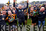 Stephen Stack Manager Austin Stacks and players celebrate winning the Kerry Senior County Football Final at Fitzgerald Stadium on Sunday.