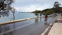 WEATHER PICTURE<br />The rain covered coastal road near Agioi Apostoloi, 30 miles away from Athens, Greece. The country has been experiencing recent heatwaves. Thursday 27 July 2017