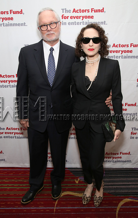 Chris Calkins, Bebe Neuwirth attends The Actors Fund Annual Gala at the Marriott Marquis on 5/8//2017 in New York City.