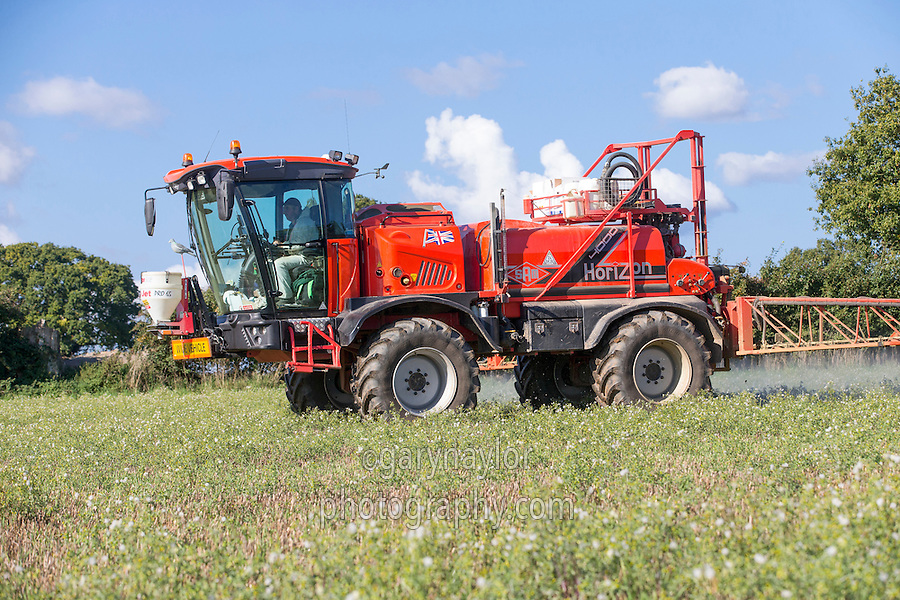 Spraying stubble with Roundup - Norfolk, October