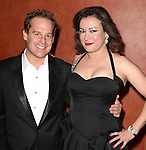 Adam James & Jennifer Tilly.attending the Opening Night After Party for the Roundabout Theatre Company's Broadway Production of 'Don't Dress For Dinner' at the American Airlines Theater on 4/26/2012 in New York City.