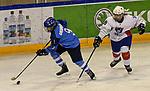 06.01.2020, BLZ Arena, Füssen / Fuessen, GER, IIHF Ice Hockey U18 Women's World Championship DIV I Group A, <br /> Frankreich (FRA) vs Italien (ITA), <br /> im Bild Eva Maria Grunser (ITA, #9), Elina Zilliox (FRA, #18)<br />  <br /> Foto © nordphoto / Hafner