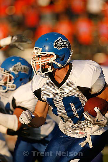 Provo - PG's Kyle Tucker. Timpview vs. Pleasant Grove high school football Friday, August 21 2009...