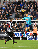 4th November 2017, St James Park, Newcastle upon Tyne, England; EPL Premier League football, Newcastle United Bournemouth; DeAndre Yedlin of Newcastle United cant stop Marc Pugh of AFC Bournemouth from heading at goal in the second half