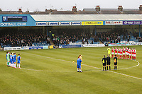 Players during a minutes applause for Jimmy Armfield ahead of the Sky Bet League 1 match between Gillingham and Fleetwood Town at the MEMS Priestfield Stadium, Gillingham, England on 27 January 2018. Photo by David Horn.