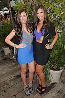 MIAMI BEACH, FL - JULY 22: Jessica Labbadia (L) and Melissa Labbadia of L2 at the L Space By Monica Wise show during Mercedes-Benz Fashion Week Swim 2013 at The Raleigh on July 22, 2012 in Miami Beach, Florida. &copy;&nbsp;mpi04/MediaPunch Inc /NortePhoto.com*<br />