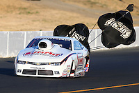 Jul. 25, 2014; Sonoma, CA, USA; NHRA pro stock driver Greg Anderson during qualifying for the Sonoma Nationals at Sonoma Raceway. Mandatory Credit: Mark J. Rebilas-