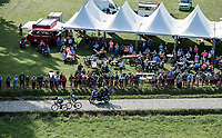 riding the cobbles next to a fan-zone. <br /> <br /> Antwerp Port Epic 2018 (formerly &quot;Schaal Sels&quot;)<br /> One Day Race: Antwerp &gt; Antwerp (207km of which 32km are cobbles &amp; 30km is gravel/off-road!)