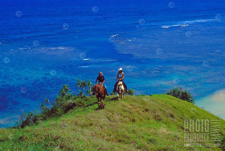 Horsebackriding with Princeville ranch stables, Kauai