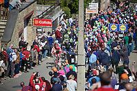 peloton up the infamous Mur de Huy (1300m/9.8%)<br /> <br /> Fl&egrave;che Wallonne 2016