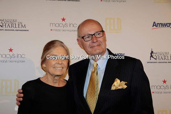 Gloria Steinem & Harry Smith - 10th Annual Gala celebrating Figure Skating in Harlem's 18th year of operations at The Stars 2015 Benefit Gala on April 13, 2015 in New York City, New York honoring Olympic Champion Evan Lysacek, Gloria Steinem and Nicole, Alana and Juliette Feld with Mary Wilson as Mistress of Ceremony. (Photos by Sue Coflin/Max Photos)