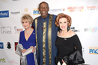 LOS ANGELES - FEB 4:  Karen Sharpe Kramer, Louis Gossett Jr., Kat Kramer at the 3rd Annual Roger Neal Style Hollywood Oscar Viewing Dinner at the Hollywood Museum on February 4, 2018 in Los Angeles, CA