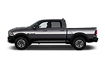 Car driver side profile view of a 2017 Ram 1500 Rebel Crew 4 Door Pick Up